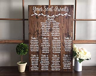 CELYCASY Wedding Seating Chart Sign Your Seat Awaits Wedding Seating Plan Sign Alternative Wedding Find Your Table Seating Plan Sign