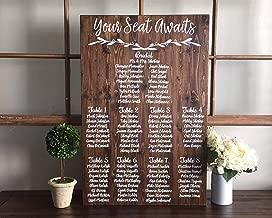 Amazon.com: CELYCASY - Cartel de asiento de boda con texto ...