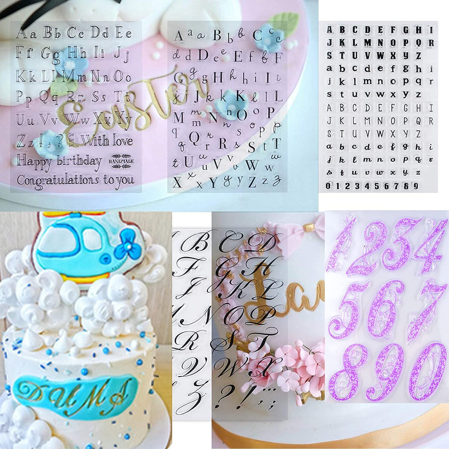 6 Pieces Alphabet Cake Easy-to-use Number Stamp Fondant Tool Miami Mall