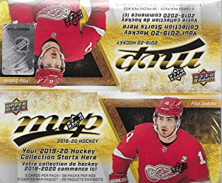 MVP 2019 2020 Upper Deck NHL Hockey Series Unopened Retail Box of 36 Packs with Chance for Stars, 1 Draft Picks, Rookie Cards, Silver Scripts Plus