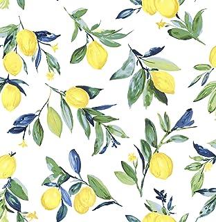 NuWallpaper NUS3161 Lemon Drop Yellow Peel & Stick Peel and Stick Wallpaper