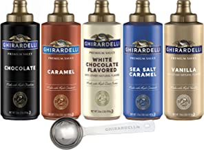 Ghirardelli - 16 Ounce Black Label, 16 Ounce Vanilla, 16 Ounce White, 17 Ounce Caramel, 17 Ounce Sea Salt Caramel Flavored...