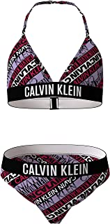 Calvin Klein Triangle Bikini Set-Print Juego Niñas