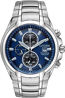 Citizen Men's Analog Eco-Drive Watch with Titanium Strap CA0700-51L