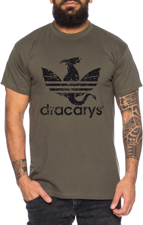 Dracarys - Camiseta de Hombre Targaryen Thrones Game of Stark Lannister Baratheon Daenerys Khaleesi TV BLU-Ray DVD