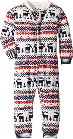 Moose Fair Isle Thermal Romper (Infant)
