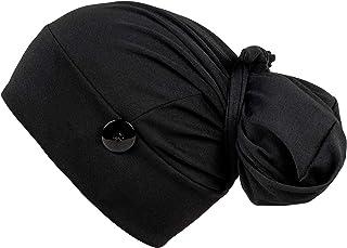 قبعة عمل مع زر وعصابة راس من فيرست لايف سيفر، قبعات قابلة للتعديل للنساء، مناسبة للشعر الطويل