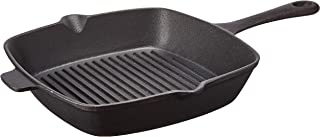 Ewei's Homeware 10.5 inch Pre Seasoned Cast Iron Skillet Pan, Square Grill Pan