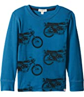 Appaman Kids - Long Sleeve Bike Cycles Tee (Toddler/Little Kids/Big Kids)