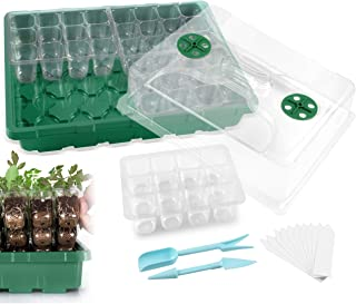 MIXC 3-Set 144 Cells Strong Seed Starter Trays with Humidity Dome and Base Plant Growing Germination kit Clone Tray for Mi...