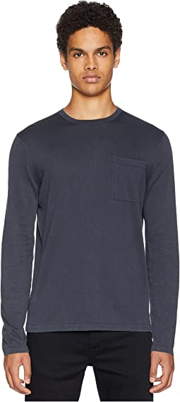 Single Pocket Crew Neck Sweater