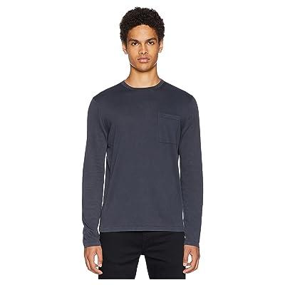 Vince Single Pocket Crew Neck Sweater (Titanium) Men