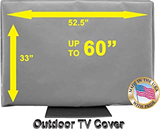 """55"""" Outdoor TV Cover *Top Premium Quality* Weather Resistant* Soft Non Scratch Interior* Made In USA* (Televisions up to 60"""")"""