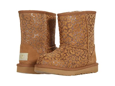 UGG Kids Classic II Glitter Leopard (Toddler/Little Kid) (Chestnut) Girls Shoes