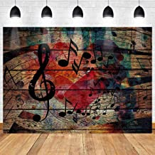 Music Stage Backdrop Note Wooden Wall Photography Background MEETSIOY 7x5ft Themed Party Photo Booth YouTube Backdrop GEMT1371
