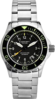 I.Concept Japan Automatic tritium GTLS Self Luminous Sapphire Diver Watch
