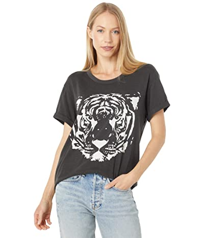 Chaser Tiger Cloud Jersey Rolled Sleeve Crew Neck Tee