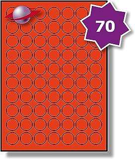 32 Par Foglio 320 Etichette Label Planet/® Etichette di Carta Ovale Bianche A4 per Stampanti a Getto dInchiostro e Laser 40 x 30mm 10 Fogli LP32//40 OV.