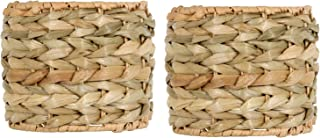 Upgradelights Sea Grass 5 Inch Clip On Chandelier Lamp Shades (Set of 2) 5x5x4