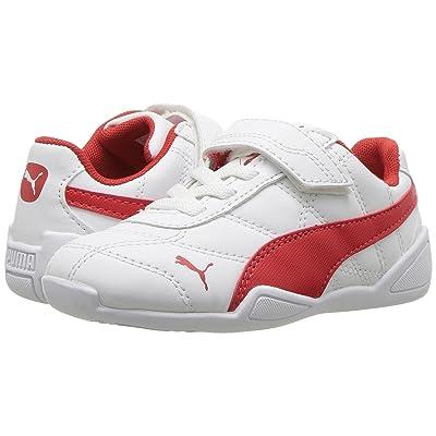 Puma Kids Tune Cat 3 V (Toddler) (Puma White/Flame Scarlet) Boys Shoes