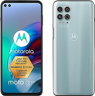 Motorola Moto G100 Dual-SIM 128GB ROM + 8GB RAM Factory Unlocked 5G Smartphone (Iridescent Ocean) - International Version