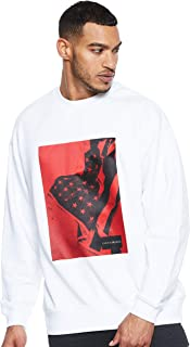 Calvin Klein Men's J30J310474-White Sweatshirts