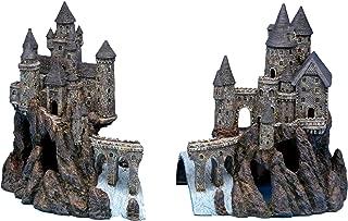 """Penn Plax Super Castle A and Super Castle B for Aquariums- 15"""" H x 25.6"""" W x 10"""" D (Combined Dimensions)"""