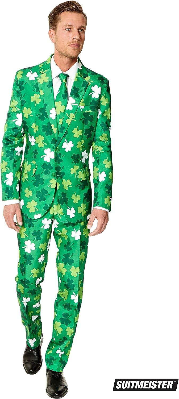Suitmeister St. Patrick Anzüge für Herren - Mit Jackett, Hose und Krawatte mit Festlichen Print