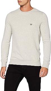 True Religion Men's Crew Fleece Metal Horseshoe Sweatshirt