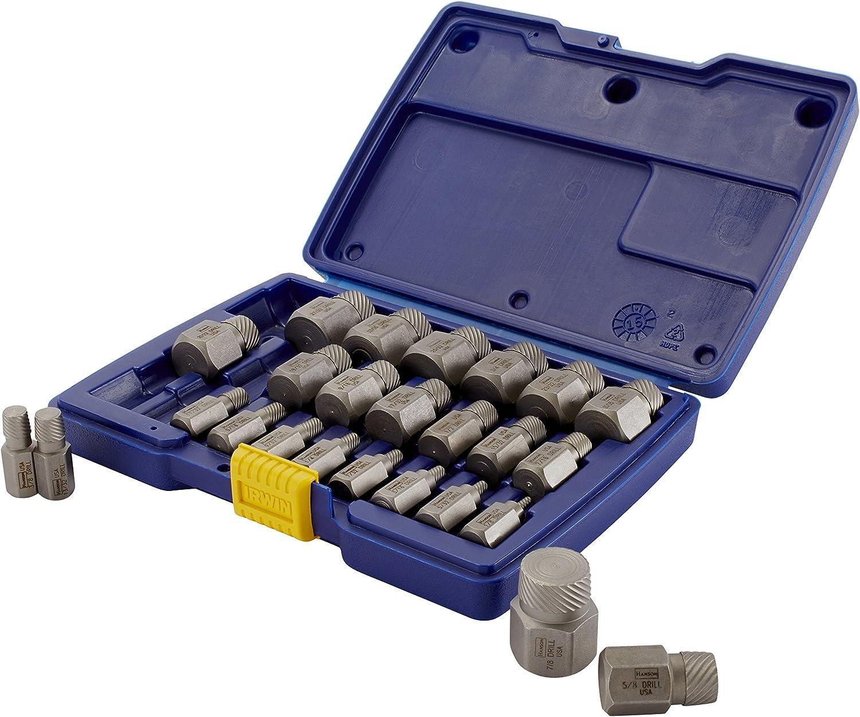 Irwin Industrial Tool 53227 Hex Head Multi-Spline Extractor Set, 25-Piece