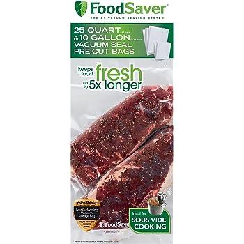 FoodSaver FBSQ25G10-NP Sous Vide Bags, Medium, Clear