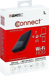 Emtec P700-serien 1TB USB3.0 WI-FI HDD (ECHDD1000P700), svart, 1 TB