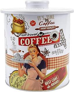 H/&H Vintage Barattolo in Latta caff/è s Nero 11XH16cm