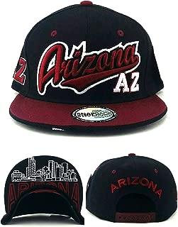 Arizona New Top Pro Sports Skyline Black Maroon Sedona Red Era Snapback Hat Cap