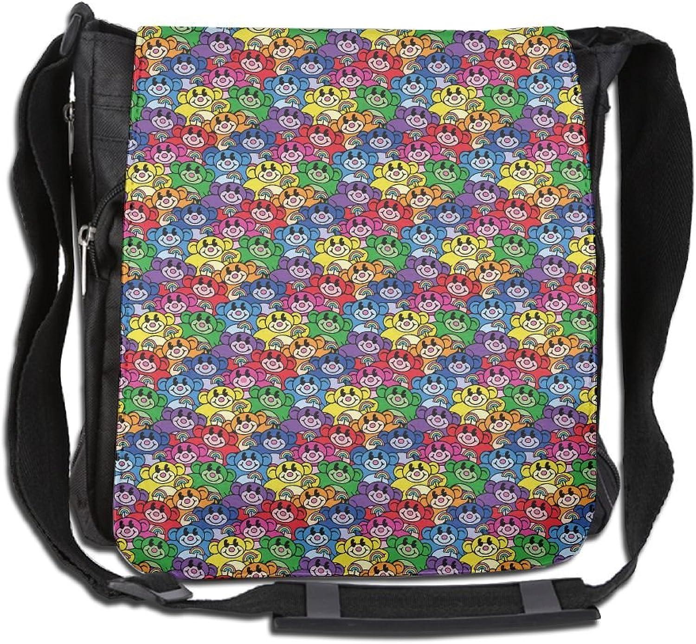 Rainbow Monkey Casual Unisex Shoulder Handbag