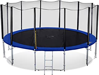Exacme Heavy Duty Trampoline with Enclosure Net for Kids Spring Cover Ladder Combo, High Weight Limit Outdoor Trampoline, TUV Approved, T8-T16