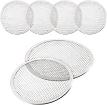 4 Pieces 10 Inch Seamless Round Pizza Screen Aluminum Mesh Pizza Screen Pizza Mesh Baking Tray for Home Kitchen Restaurant...