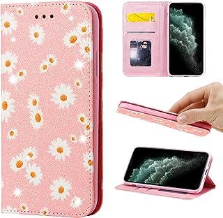 جراب محفظة مبهج لهاتف Samsung Galaxy M11، جراب قلاب من جلد البولي يوريثان اللامع اللامع للغاية مع خاصية الوقوف