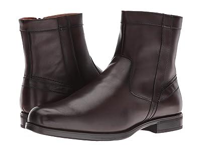 Florsheim Midtown Plain Toe Zip Boot (Brown Smooth) Men
