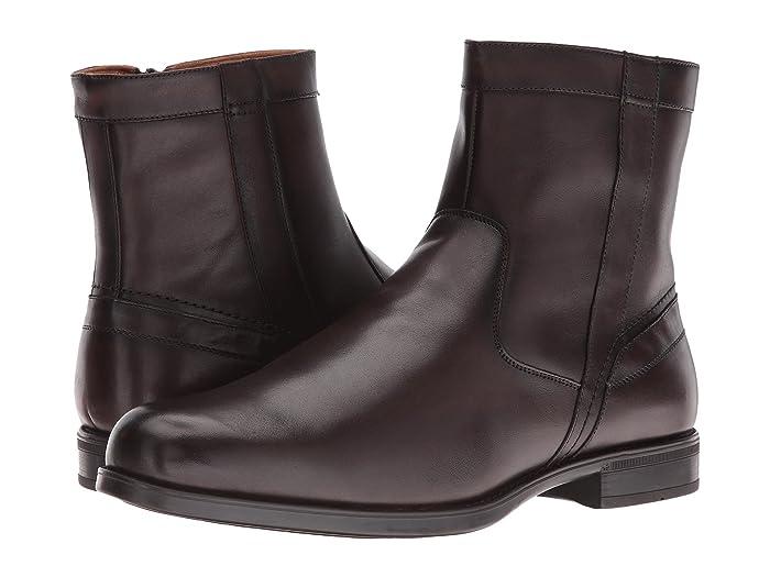 Florsheim  Midtown Plain Toe Zip Boot (Brown Smooth) Mens Dress Zip Boots