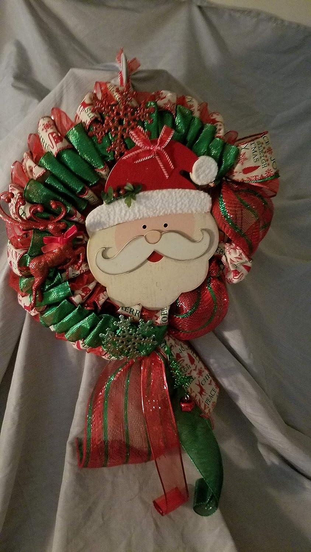 Santa Wreath Under blast sales Max 86% OFF