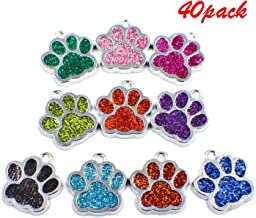 50pcs Antique silver charms paw print pendants for  jewelry findings 13x11mm
