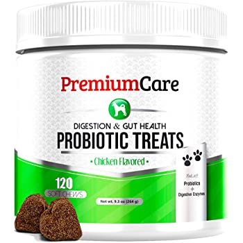 Probiotics For Dogs - Advanced Dog Probiotics + Digestive Enzymes - Made In The USA - Relieves Diarrhea, Upset Stomach, Constipation, Improves Digestion, Allergy, Hot Spots, Immunity & Overall Health