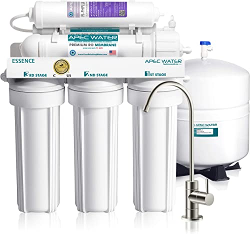 APEC Water Systems ROES-PH75 Essence Series Top Tier Alkaline Mineral pH+ 75 GPD 6-Stage Certified Ultra Safe Reverse...