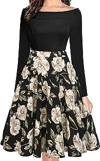 فستان أوكسيلي نسائي كلاسيكي بدون أكتاف وجيوب كاجوال على شكل حرف A للحفلات وحفلات الكوكتيل OX232