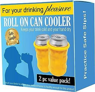candom puede Koozie (2unidades) | Rollos en una lata como un gigante condón para mantener tu bebida fría | candoms hacen grandes regalos de broma para un cumpleaños, despedidas de soltero o fiesta de soltera | Varios colores | Reutilizable