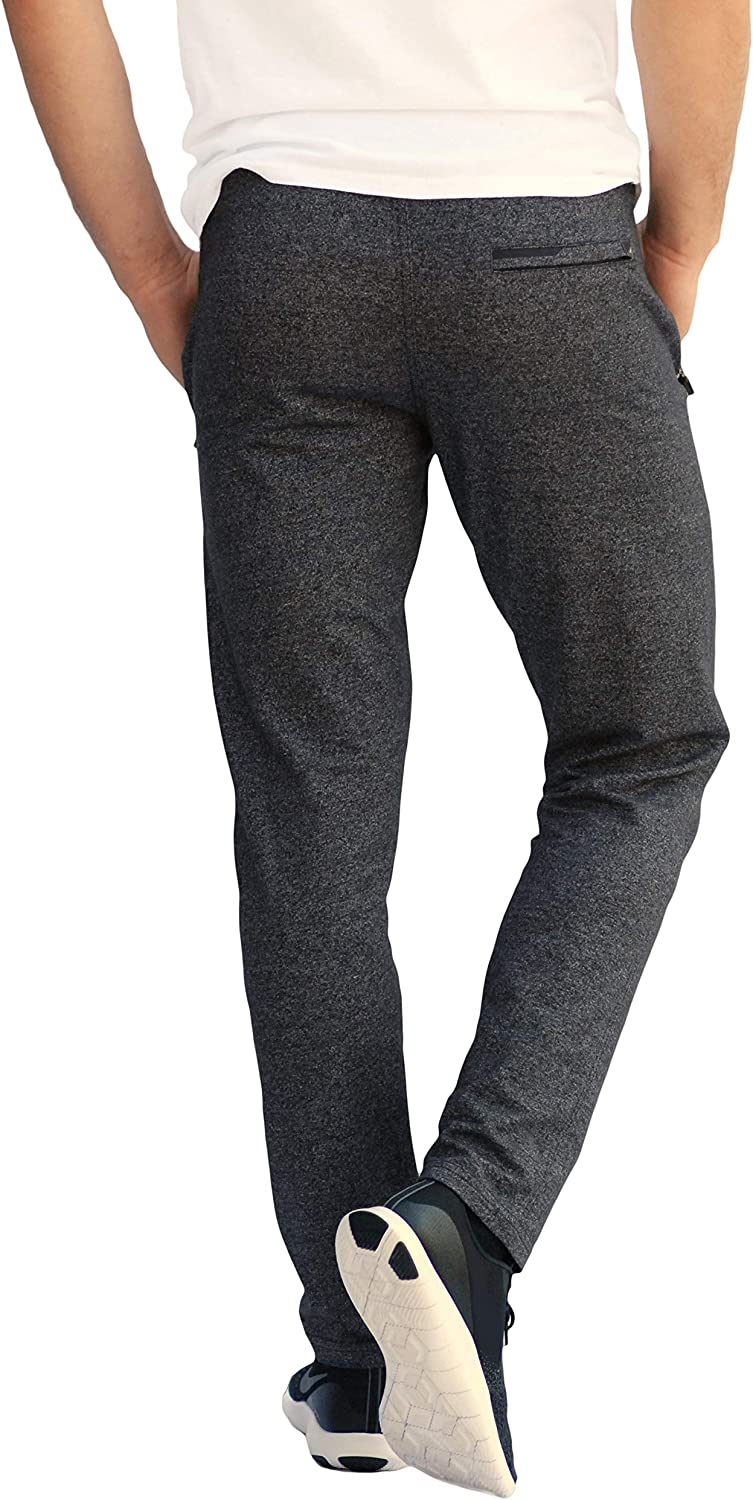 SCR SPORTSWEAR 30/33/36 Inseam Mens Sweatpants with Pockets Tapered Joggers Men Slim Fit Open Bottom Pants Tall