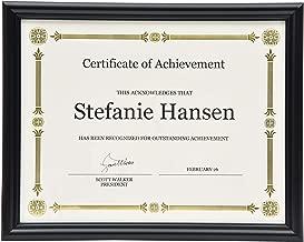 St. James 8.5x11-inch Certificate Frame Diploma Frame Document Frame Picture Frame, Wall or Desktop Display, Black Molding