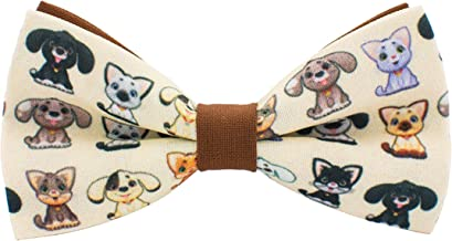 Dogs & Cats bow tie unisex pets pre-tied shape in different patterns, by Bow Tie House
