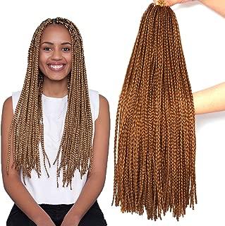 7 Packs 24inches Box Braids Crochet Braids 3X Box Braid Crochet Hair Extension 20 Strands/Pack (24